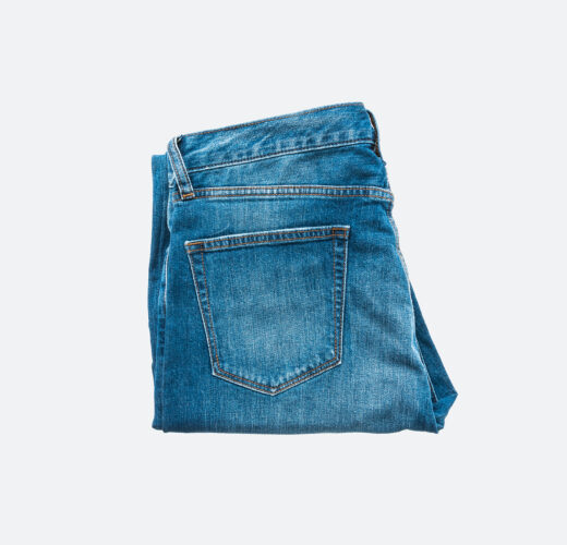 Jeans for clothing isolated on white background